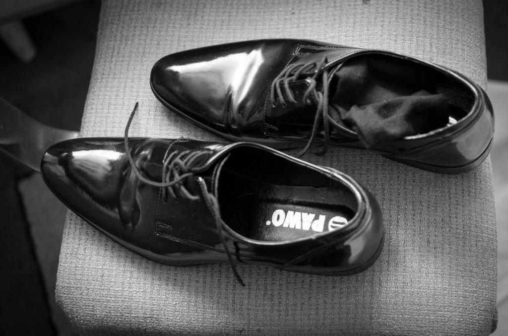 Schoenen uit na een lange dag
