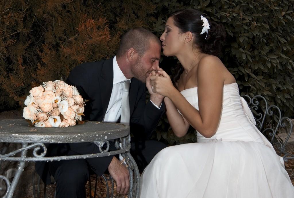 Traditioneel bruidspaar