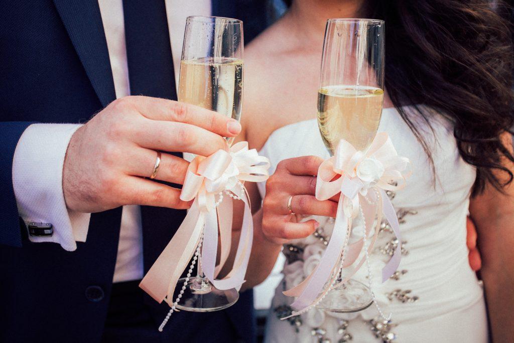 Champagne en ringen